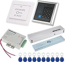 tastiera di controllo di accesso KKmoon DC12 V Kit di controllo di accesso con password e 10 schede RFID alimentazione a pulsante di uscita 180 kg//396 lb serratura elettromagnetica