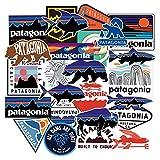 WYDML Patagonia Pegatinas Marca Marea Pegatinas de Equipaje de Ordenador Impermeable decoración de Caja de Pesca al Aire Libre