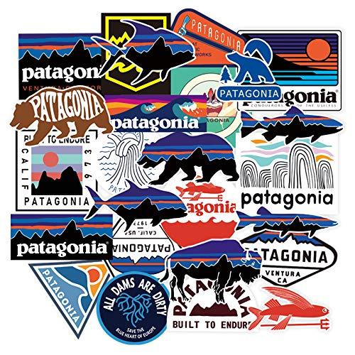 WYDML Patagonia Stickers Tide Brand Computer Bagagli Adesivi Decorazione Esterna Impermeabile per Scatola da Pesca