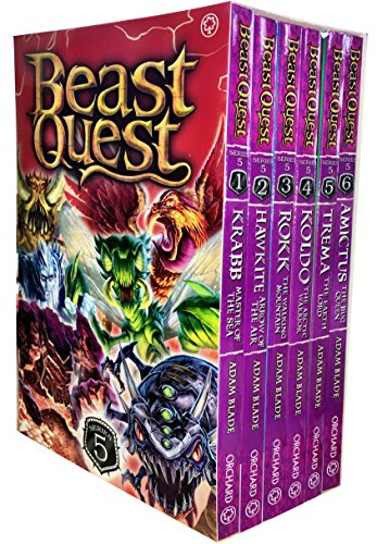 Beast Quest Collection Series 5 Pack Adam Blade 6 Books Set 25 to 30 (Amictus...