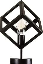PA - Siyah Rustik Küp Abajur Masa Lambası Avize