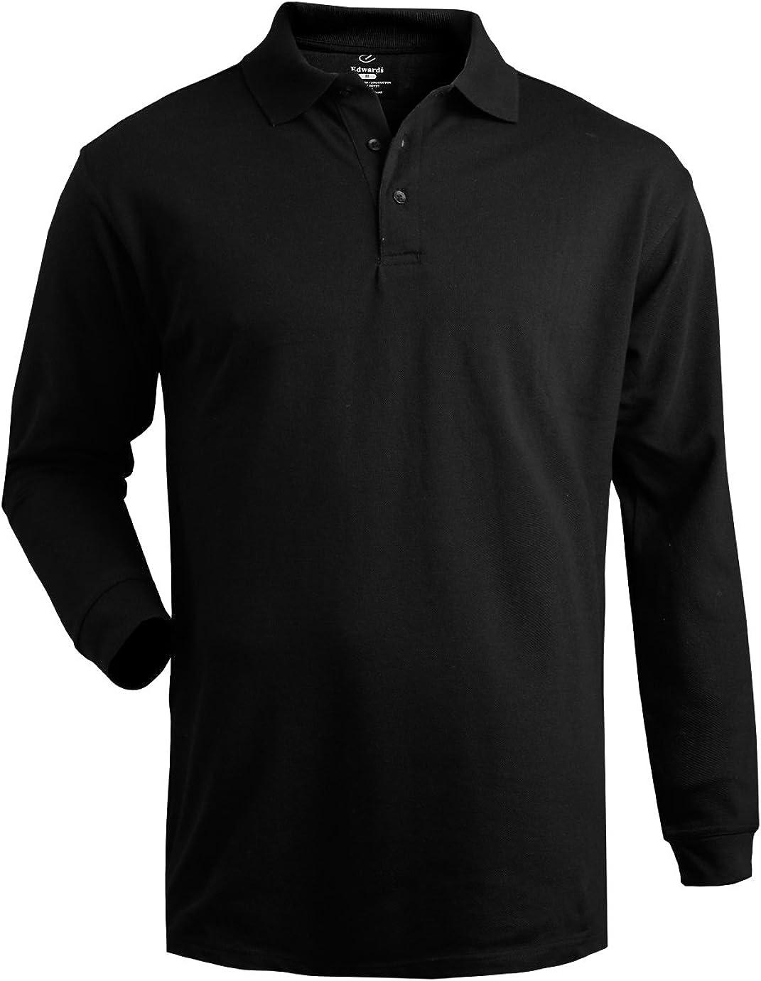 Edwards Men's Long Sleeve Pique Polo (No Pocket)