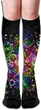 iuitt7rtree Compression Socks Shiny Bubbles Girl Full Socks Long Socks Knee High Socks (Long 50cm Soft 4647
