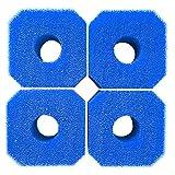 Hainice Filtración De La Piscina Piscina Filtros De Esponja De Esponja Reutilizable Cartucho De Filtro Lavable Esponja para Acuario SPA Blue 4pcs