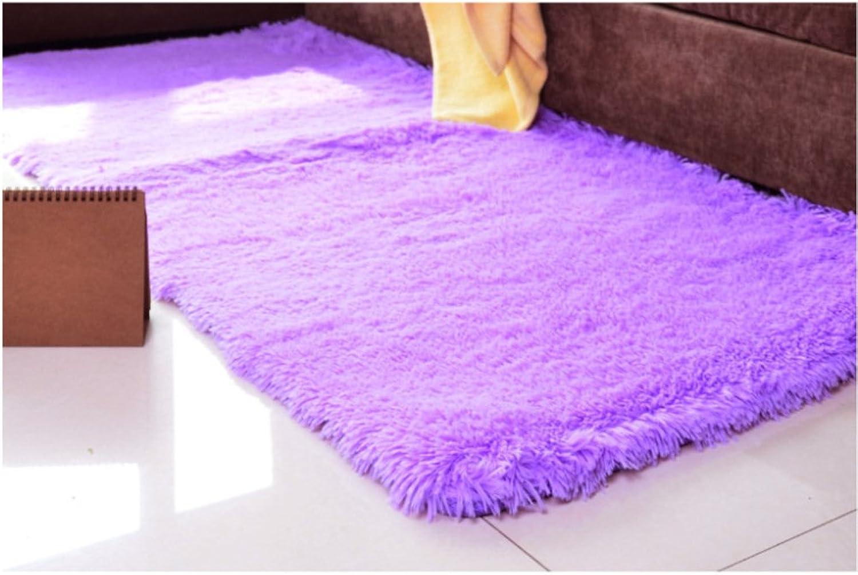 Solid-color plush non-slip carpet mats Living room bedroom bedside mat-G 80x120cm(31x47inch)