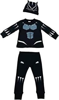 Knitwits Baby Panther Pajama Set, 100% Cotton Marvel Costume for Kids and Infants