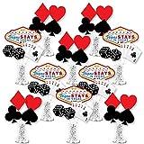Big Dot of Happiness Las Vegas - Palos de centro de mesa para fiesta de casino - Decoración para mesa - 35 piezas