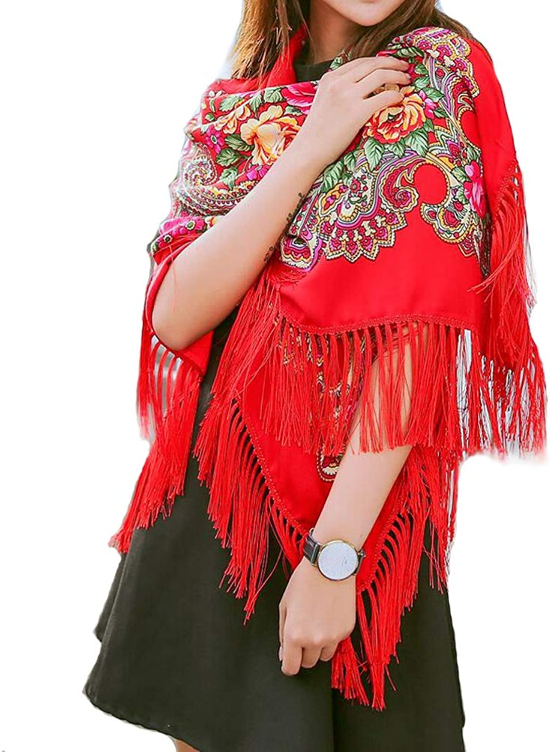 Shawls and Wraps Shawls for Women,Womens Scarves,Red Head Scarf Wrap with Tassel