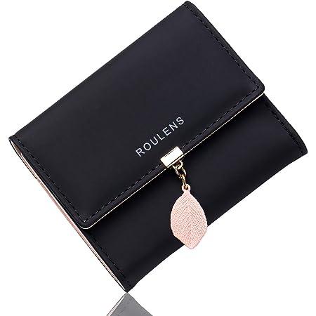 Roulens Damen Geldbeutel mit RFID, klein und im Kurzformat Portemonnaie Damen Quaste PU Leder Portemonnaie Kleine Brieftasche Geldbörse Für Frauen Die Farbe ist sehr schön, mit Mehreren Fächern