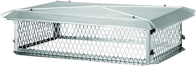 "BigTop BT1741K Stainless Steel Chimney Cover, 8"" x 17"" x 41"""
