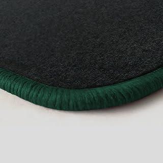 Autoteppich Stylers (Randfarbe nach Wahl) Passgenaue Fußmatten aus Nadelfilz Graphit mit dunkelgrünem Rand (503)