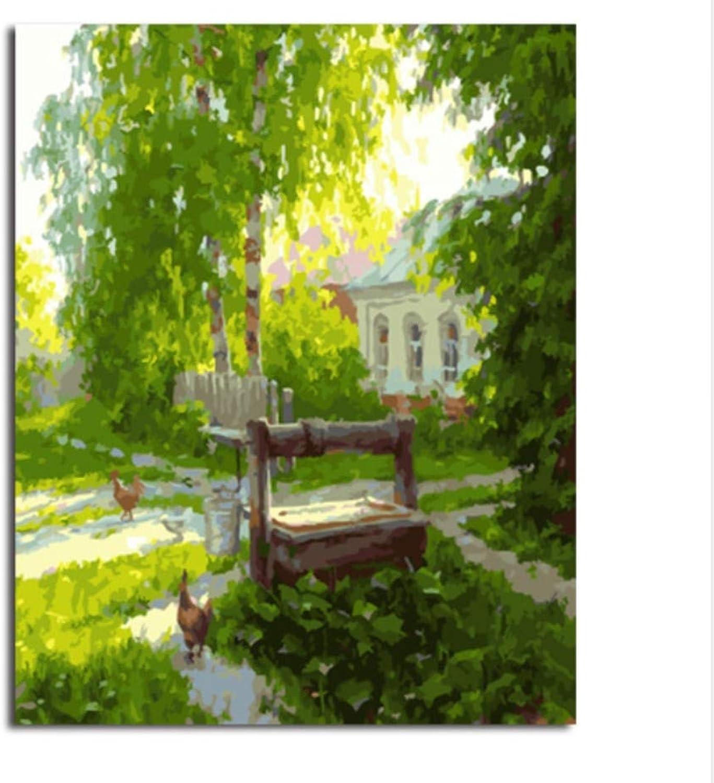 CZYYOU Landschaft Bilder DIY Malen Nach Zahlen Wohnkultur Für Wohnzimmer Leinwand Ölgemälde 40x50cm-Rahmenlos B07P8M9YVH | Garantiere Qualität und Quantität