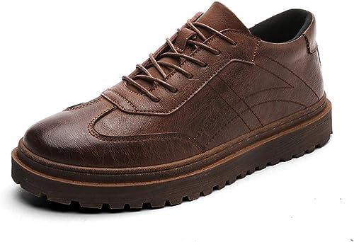 XHD-Chaussures Tenue de Ville Simple, Oxford, Style décontracté, Style Britannique, Britannique, Chaussures de Ville (Couleur   Marron, Taille   44 EU)  pour vous offrir un shopping en ligne agréable