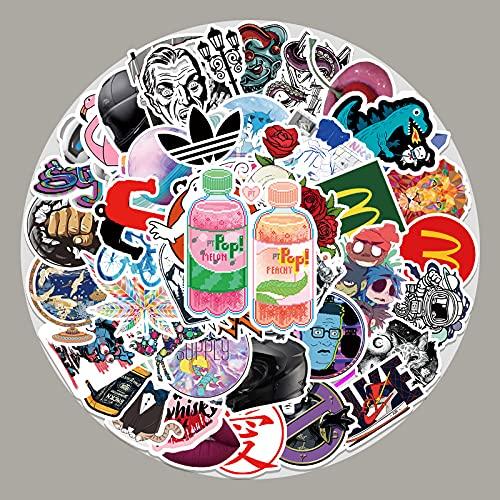 XIAMU Trend Mixed Brand Doodle Pegatinas Skateboard Notebook Frigorífico Diy Pegatinas Decorativas 50 Unids