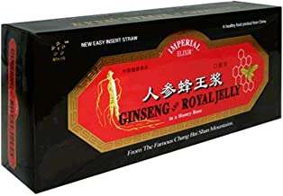 Imperial Elixir Ginseng and Royal Jelly, In a Honey Base, 0.34 Ounce Bottles (Pack of 60)