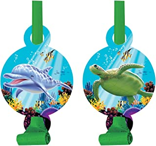 """Creative Converting Ocean Party Blowers, 5.25"""" x 2.55"""", Multicolor"""