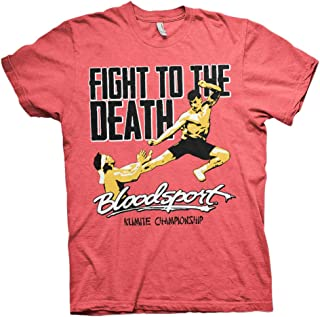 Bloodsport Officially Licensed Fight to The Death Mens T-Shirt (Red-Heather)