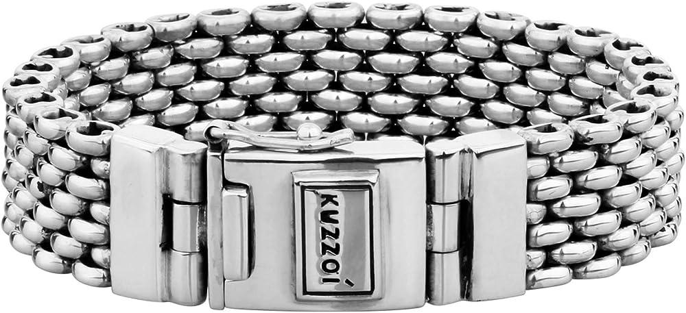 Kuzzoi bracciale da uomo in argento sterling massiccio 925 335107