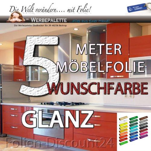 (EUR 5,69 / vierkante meter) keukenfolie meubelfolie wit hoogglans 3101 PRIJS TIP! (5 meter x 61 cm)