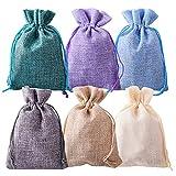 gudotra 60pz sacchetti portaconfetti 6 colori 10x14cm bustina bomboniere confetti per matrimonio battesimo compleanno natale regalo(60pz-6 colori-10x14cm)