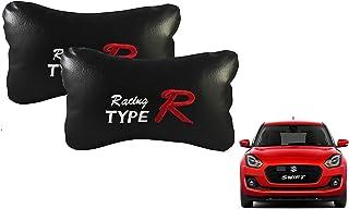 Auto Car Winner Type R Black(Set of 2) Car Neck Rest Cushion Maruti Swift 2018 VXI
