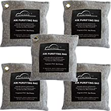 Air Purifier Bags Bamboo Charcoal (5 Pk of 200 gms) Bamboo Charcoal Air Purifying Bag - Odor Absorbing Bags - Activated Ch...