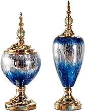 Flowers Vase Transparent Heavy Glass Vase Decoration Home Wedding Set (1 Set 2 Pieces) Flower Bottle