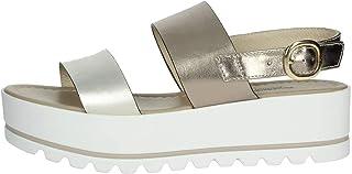 Nero Giardini P908323D/707 Sandali Scarpe Donna Fibbia Cinturino Platform Bianco