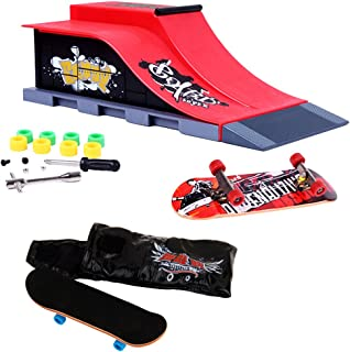 Prettyia Skateboard Collectibles Skateboard Funsport Finger Skateboard Ramp Kit #C