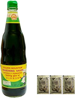 Golden Mountain Seasoning Sauce,20 Fl Oz plus a Free Gift Instant Ginger Honey Crystals