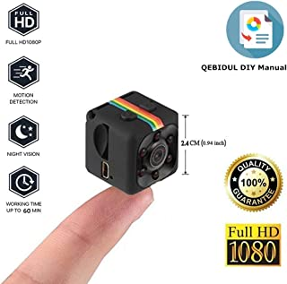 QEBIDUL SQ8 SQ9 Upgrade SQ11 Mini Camera 1080P Full HD Sports Micro Cam Motion Detection Camcorder Infrared Night Vision Digital Video Recorder Wide Angle