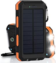Waterproof 300000mAh Dual USB Portable Solar Battery Charger Solar Power Bank Orange