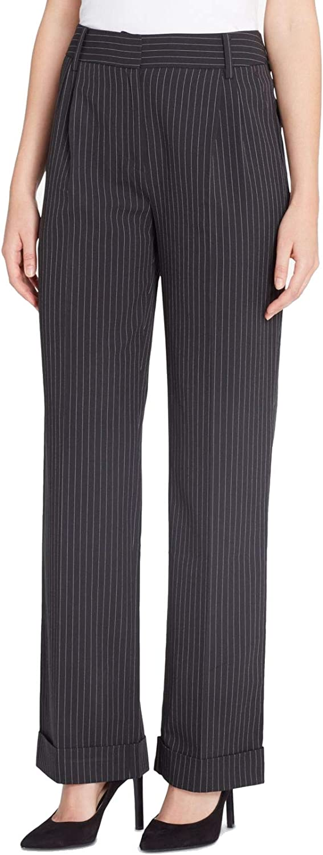 Catherine Malandrino Womens Giraud High Rise Pinstripe Dress Pants