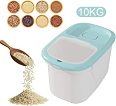 Womdee Rice Storage Container, 10KG/22lbs Airtight Rice Sealed Box with BPA Free Plastic and Insert-Proof Box, Dry Food Storage Containers for Flour, Rice, Nuts, Beans, Snack, Cereal, Pet Food