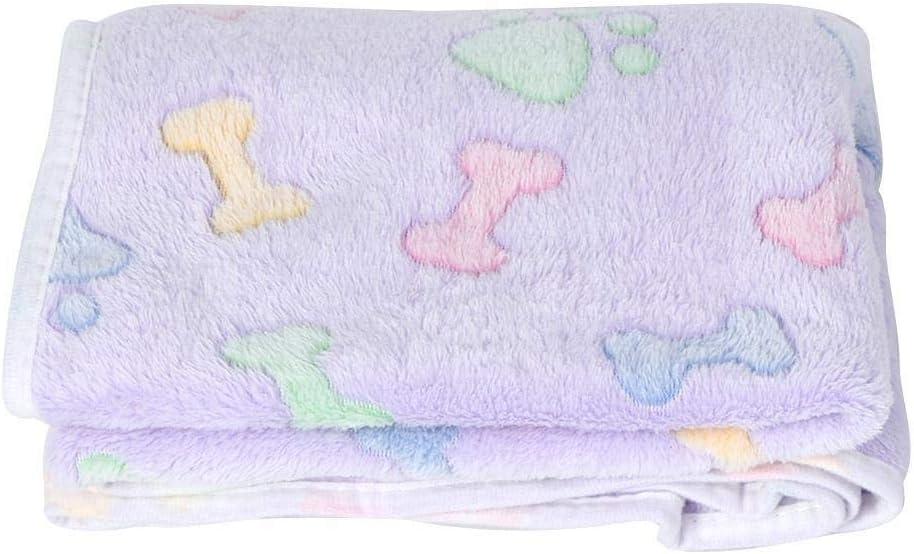 Conlense Warm Paw Bone Pattern Pet Cat Dog NEW famous before selling ☆ Autumn Mat Wi Blanket