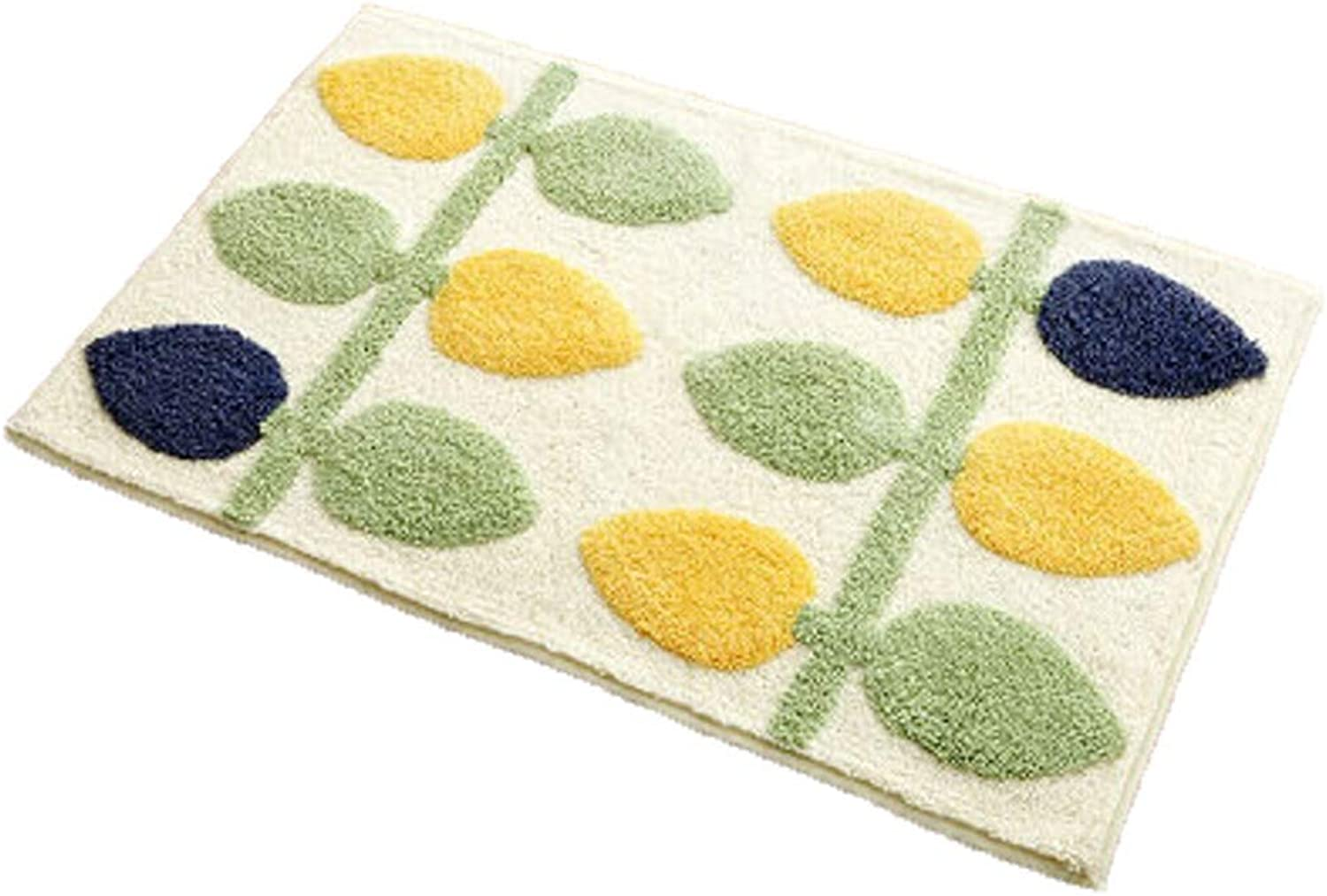 MING REN Floor mat - Fiber Fabric, Dense Fluff, Non-Slip Water Absorption, Good Breathability, Active Printing and Dyeing, Rectangular Household Bathroom Bedroom, Water Absorption Hall Door mat, Foot