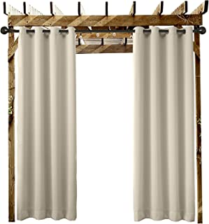 ChadMade Outdoor Curtain Beige Extra Wide 150