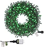 Twinkle Star 200 LED 66FT Christmas Fairy String Lights, St Patricks Day Lights with 8 Lighting Modes, Mini String Lights Plug in for Indoor Outdoor Xmas Garden Wedding Party Decoration, Green