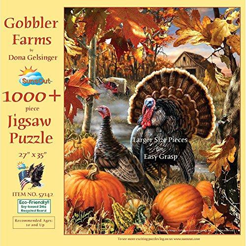 Gobbler Farms 1000 Piece Jigsaw Puzzle (Large Pieces)