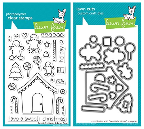 Lawn Fawn'Sweet Christmas' Clear Stamp and Die Set