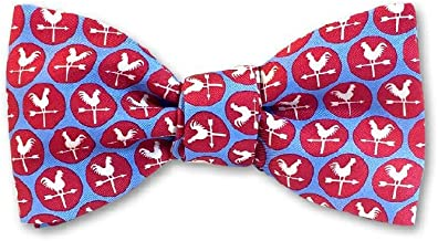 product image for Josh Bach Men's Weather Vane Self Tie Silk Bow Tie in Red, Made in USA