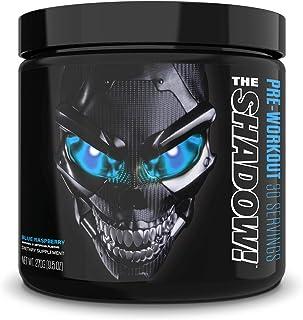 JNX Sports The Shadow! Hard Core Preworkout, A Better Pre Workout Stimulant - Electric Energy, Hypnotic Mental Focus, Superhuman Strength, 350mg of Caffeine, Men & Women | Blue Raspberry | 30 SRV