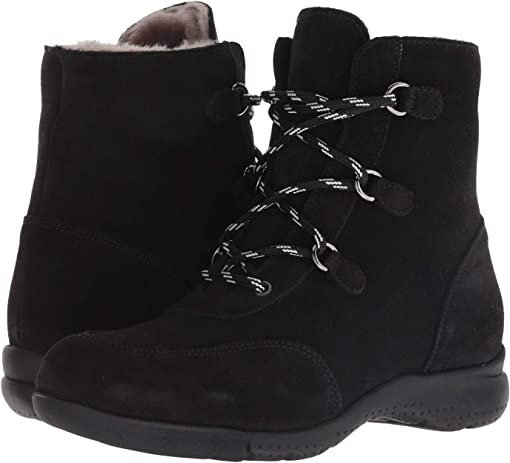 Black Suede/Shearling Lined