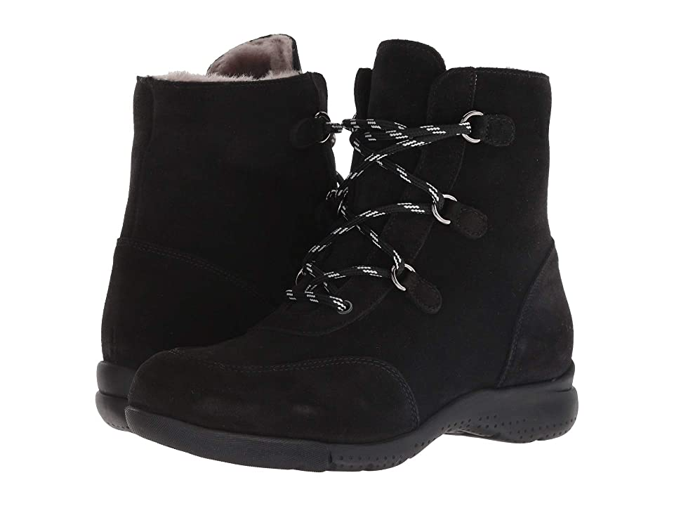La Canadienne Nicole (Black Suede/Shearling Lined) Women