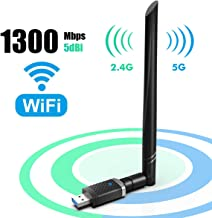 EDUP WiFi Adapter for Gaming 1300Mbps, USB3.0 Wireless Adapter Dual Band 5GHz 802.11 AC..