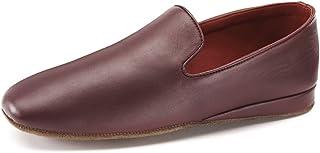 Samuel Windsor Men's Churchill Handmade Nappa Leather Albert Slippers in Black, Brown and Oxblood
