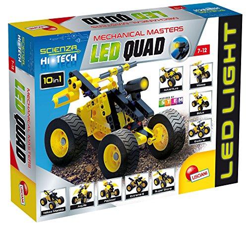 Lisciani Giochi, 65875.0, Scienza Hi Tech, Hightech-Spielzeug, Mini-Konstruktion Quad mit LED