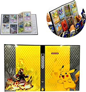 Card Holder Collection Handbook Trading Card Album for Pokemon Holds up to 160 Trading Cards (Pikachu Cover)