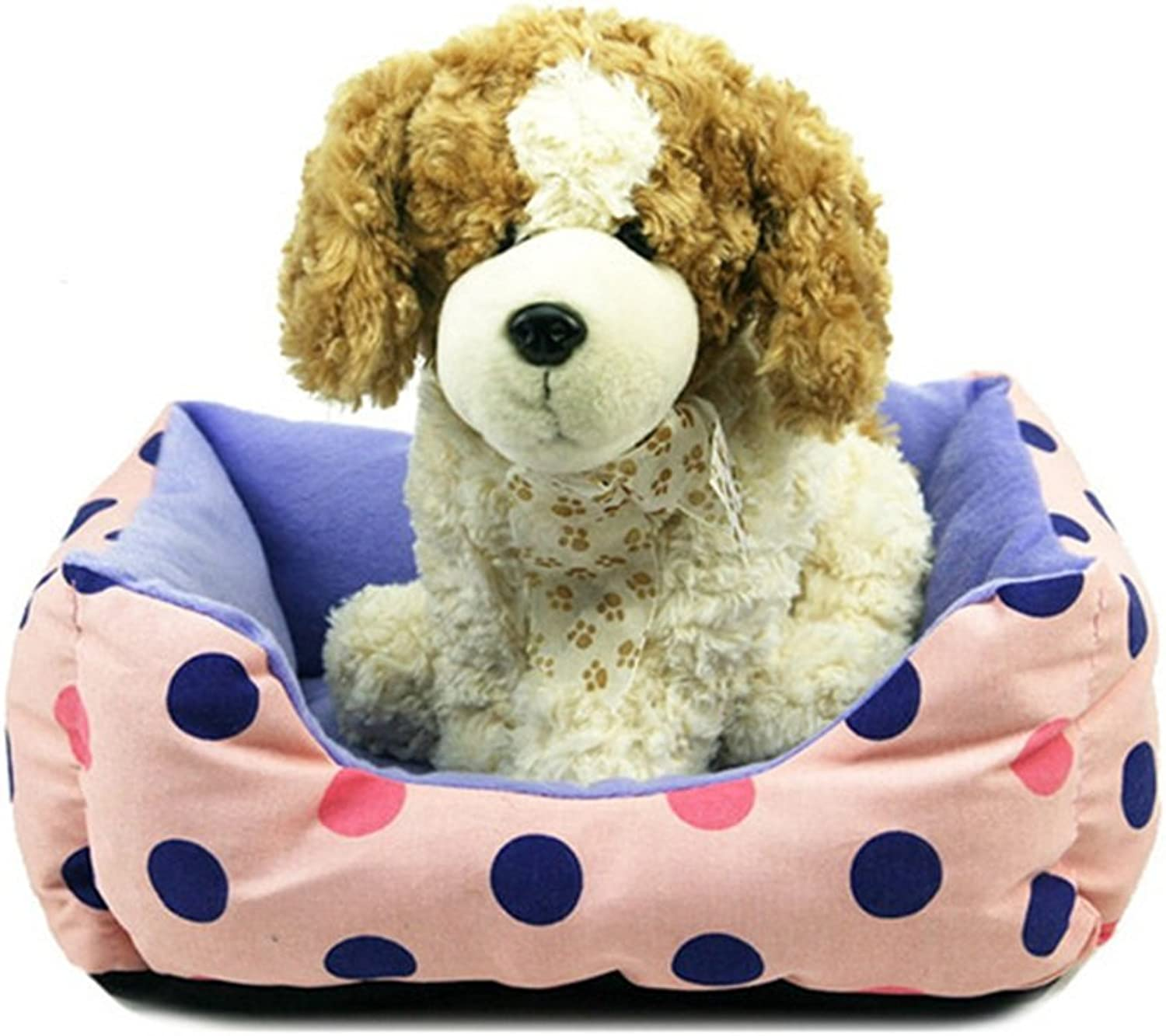 Dfghbn Warm pet nest Wave Point Side Kennel Pet Wo Taty golden Retriever Special Pet Supplies. soft