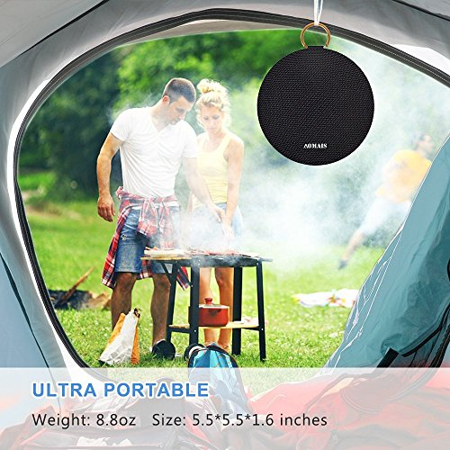 AOMAIS Ball Bluetooth Speakers, Wireless Portable Bluetooth Speaker IPX7 Waterproof, 15W Superior Surround Sound with DSP, Stereo Pairing for Outdoor,Travel,Shower,Beach,Party (Black)